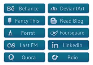Blue Glyph Social Buttons 2