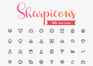Sharpicons is a set of
