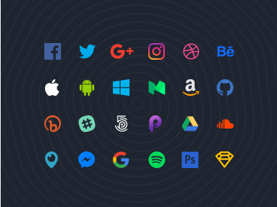 Popular Icons vector updated for