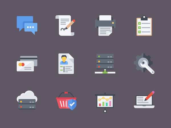 free flat icons as sample