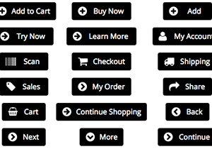 Black Ecommerce Buttons