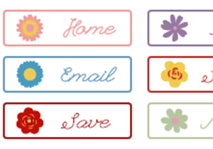 Whimsy Summer Buttons