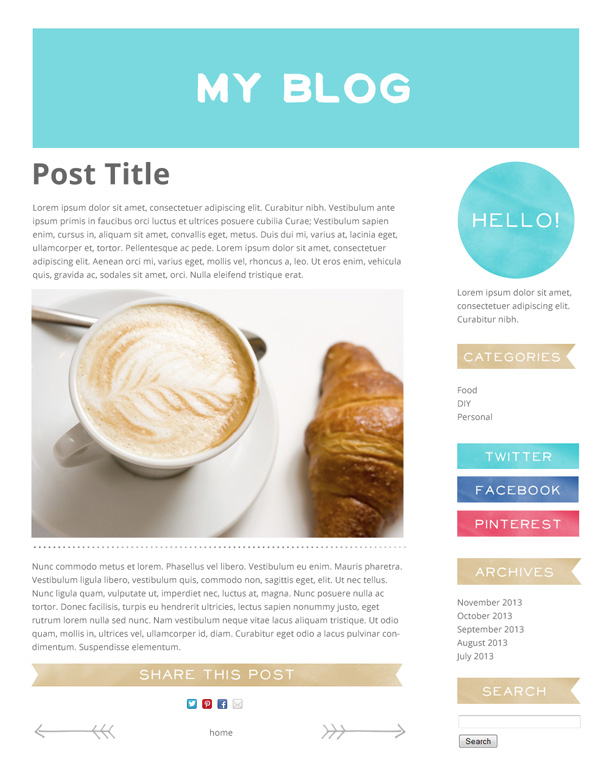 sample simple blog layout small