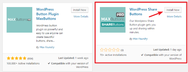 how to install wordpress share buttons