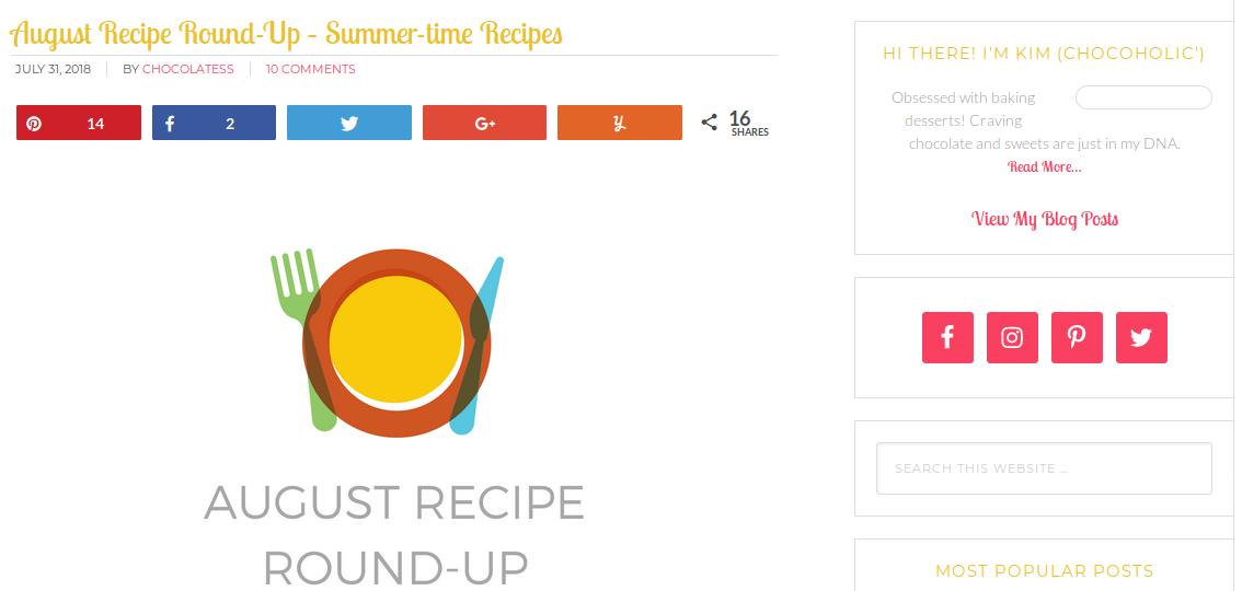 august recipe