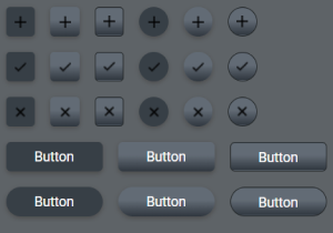 Dark Theme Buttons Pack