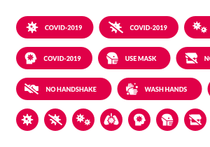 covid 2019 buttons pack 1 300x210 preview 1