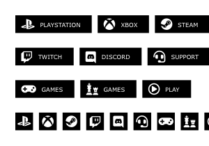 gamers buttons pack 3 300x210 preview 1