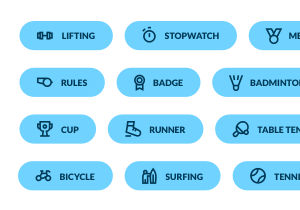 fitness button pack 1