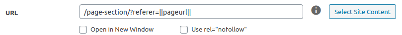 Variables in a URL field