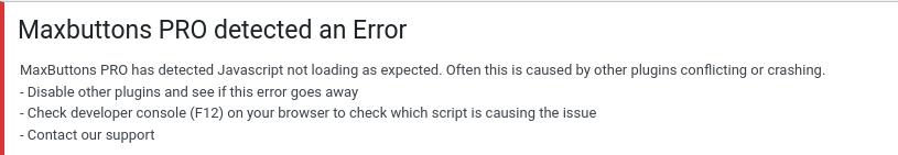Javascript failure notice