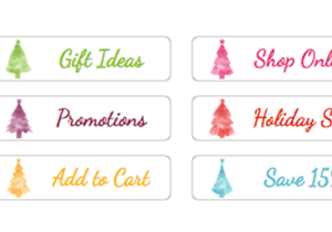 Pastel Holiday Tree Buttons
