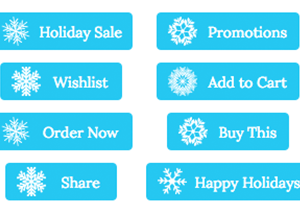 Holiday Snowflake Buttons