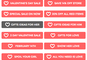 Valentine Sale Buttons
