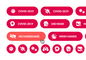 COVID-2019 Buttons Pack