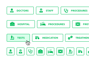 Medical Buttons Pack