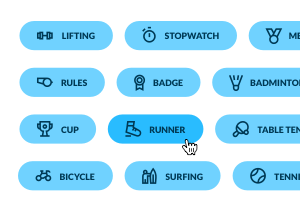 Fitness Button Pack