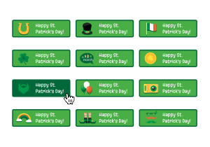 St Patricks Day Button Pack